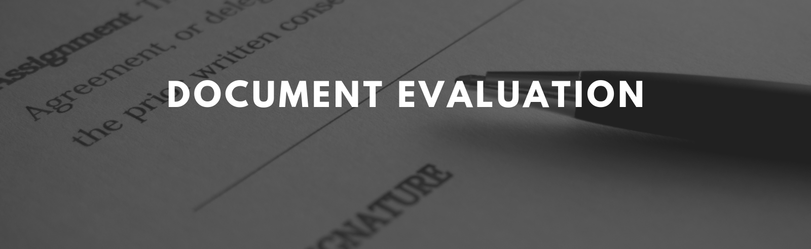 Document Evaluation Page Banner