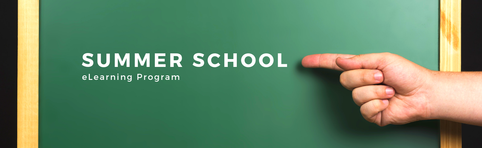 Summer School - eLearning Program Page Banner